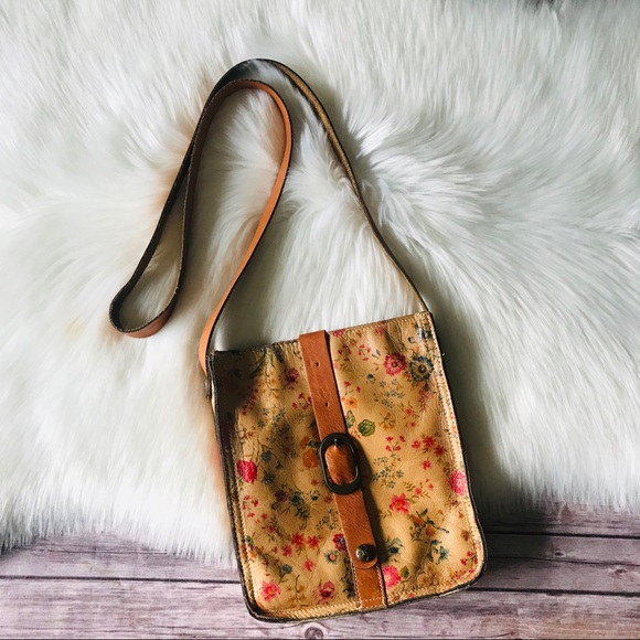 Patricia Nash Crossbody Floral Leather Bag